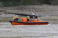 RNLI Royal National Lifeboat Institution E class lifeboat Hurley Burley E-07, Emergency Services Exercise, Lambeth Reach River Thames, London UK, 23 October 2017, Photo by Richard Goldschmidt