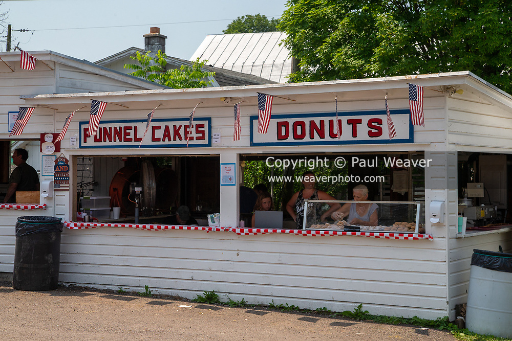 A food stand is seen at the Millville Community Fire Company carnival in Millville, Pennsylvania on July 5, 2021.