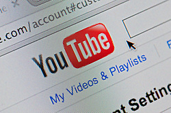 Detail of screenshot from website of Youtube internet video sharing website