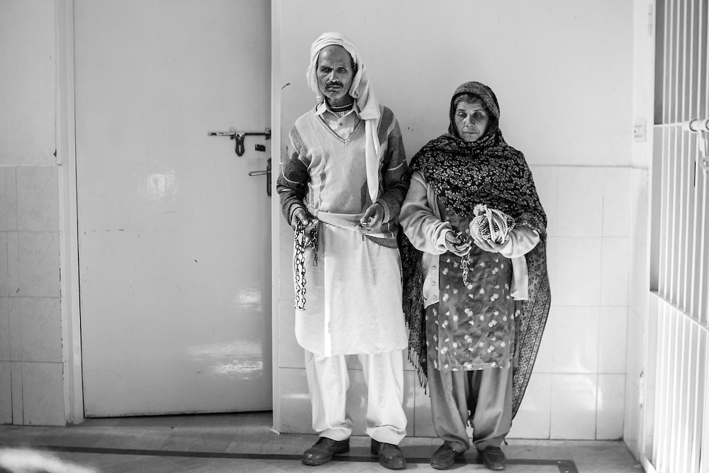 Parents who had just admitted their two sons to the hospital were about to return to Muzaffarabad, Kashmir.