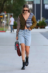 Gigi Hadid leaves Versace headquarter during Milan Fashion Week on September 19, 2019 in Milan, Italy. Photo by Marco Piovanotto/ABACAPRESS.COM