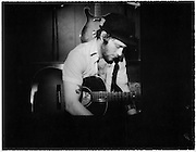 NASHVILLE, TN – JANUARY, 2009: Studio session with singer songwriter Matthew Mayfield at The Smoakstack.