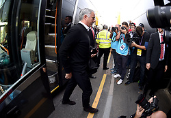 Manchester United manager Jose Mourinho arrives at the Stadium prior to the beginning of the match