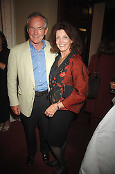 Actress GAYLE HUNNICUTT and her husband MR SIMON JENKINS at a party to celebrate the publication of Sandra Howard's book 'Ursula's Stor' held at The British Academy, 10 Carlton House Terace, London on 4th September 2007.<br /><br />NON EXCLUSIVE - WORLD RIGHTS