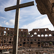 The Colosseum is arguably Rome's most iconic attraction and stands apart from the ruins of the Ancient City in size alone. The massive structure, completed in A.D. 80 by Titus, is over 1600 feet in circumference.