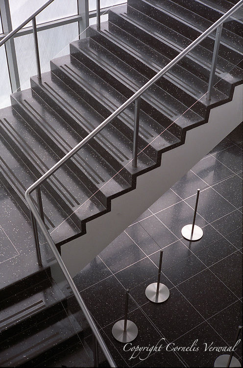 My favorite staircase at MoMa (Museum of Modern Art).