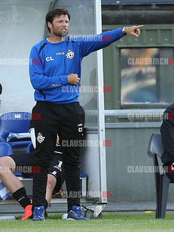 FODBOLD: Cheftræner Christian Lønstrup (FC Helsingør) under kampen i DBU Pokalen mellem FC Helsingør og Fremad Amager den 13. august 2014 på Helsingør Stadion. Foto: Claus Birch.