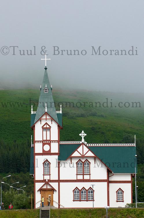 Islande, eglise de Husavik // Iceland, Husavik church