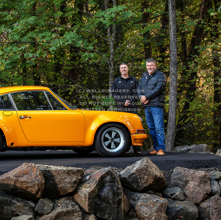 Image of a Signal Yellow 1972 Porsche 911 T/ST in Oregon, Pacific Northwest by Randy Wells