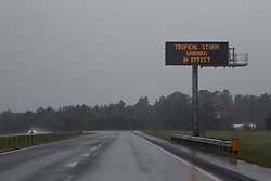 September 14, 2018 - Johnston County, NC, USA - Deserted highway in Johnston County, NC as residents take shelter from the approach of Hurricane Florence, September 14, 2018. (Credit Image: © Michael Candelori/ZUMA Wire)