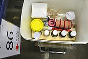 Nederland, Nijmegen, 16-7-2017 De tent van het Rode Kruis met stretchers en prikatributen waar vanaf dinsdag 4daagselopers hun blaren kunnen laten prikken, of met andere medische klachten terecht kunnen.FOTO: FLIP FRANSSEN