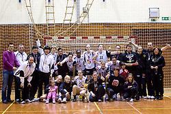 Team of Krim at medal ceremony after the last 10th Round handball match of Slovenian Women National Championships between RK Krim Mercator and RK Olimpija, on May 15, 2010, in Galjevica, Ljubljana, Slovenia. Olimpija defeated Krim 39-36, but Krim became Slovenian National Champion. (Photo by Vid Ponikvar / Sportida)