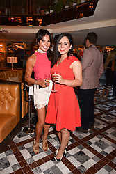 Left to right, Lizzie Cundy and Naz Ghaffar at the opening of The Ivy Cobham Brasserie, Cobham, Surrey, England. 31 May 2017.