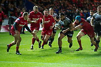 Rugby Union - 2017 / 2018 European Rugby Champions Cup: Scarlets vs. RC Toulonnaise<br /> <br /> Francois Trinh-Duc, of Toulon attacks , at Parc y Scarlets, Llanelli.<br /> <br /> COLORSPORT/WINSTON BYNORTH