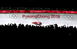 Austria's Janine Flock in the Women's Skeleton Heat 3 at the Alpensia Sliding Centre at the Alpensia Sliding Centre during day eight of the PyeongChang 2018 Winter Olympic Games in South Korea. PRESS ASSOCIATION Photo. Picture date: Saturday February 17, 2018. See PA story OLYMPICS Skeleton. Photo credit should read: David Davies/PA Wire. RESTRICTIONS: Editorial use only. No commercial use.