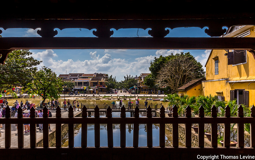 A view from inside the Japanese Covered Bridge to the outside area by the Bon River. 18th Century, RAW to JPG