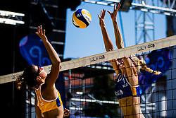 Varvara  BRAILKO of Latvia vs Tjasa Kotnik of Slovenia during Beach Volleyball World Tour in Ljubljana 2020, on August 1, 2020 in Kongresni trg, Ljubljana, Slovenia. Photo by Grega Valancic / Sportida