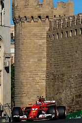 June 24, 2017 - Baku, Azerbaijan - Kimi Raikonen of Filand driving the (7) Scuderia Ferrai F1 Team on track during final practice for the Azerbaijan Formula One Grand Prix at Baku City Circuit. (Credit Image: © Aziz Karimov/Pacific Press via ZUMA Wire)