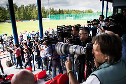 June 13, 2018 - Moscow, Russia - 180613 Media cover the training session of Portugal ahead of the 2018 FIFA World Cup on June 13, 2018 in Moscow..Photo: Petter Arvidson / BILDBYRN / kod PA / 92061 (Credit Image: © Petter Arvidson/Bildbyran via ZUMA Press)
