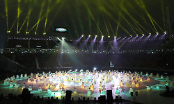 A general view of performers during the opening ceremony of the PyeongChang 2018 Winter Paralympics at the PyeongChang Olympic Stadium in South Korea.