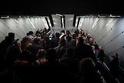 Ignazio Marino durante l'inaugurazione del primo tratto della metropolitana linea C, Roma 9 novembre 2014.  Christian Mantuano / OneShot