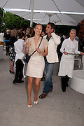 YASMIN LE BON, Alexandra Shulman, Editor of Vogue & Phil Popham, Managing Director of Land Rover<br /> host the 40th Anniversary of Range Rover. The Orangery at Kensington Palace. London. 1 July 2010. -DO NOT ARCHIVE-© Copyright Photograph by Dafydd Jones. 248 Clapham Rd. London SW9 0PZ. Tel 0207 820 0771. www.dafjones.com.