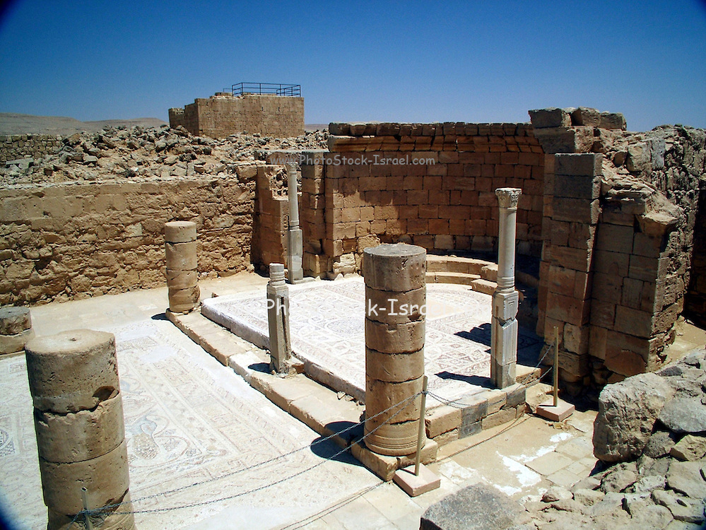 The western Church, the Nilos church, mamshit, Israel Mamshit is the Nabatean city of Memphis. In the Nabatean period, Mamshit was important because it sat on the route from the Idumean Mountains to the Arava, continued on to Beersheva or to Hebron and Jerusalem. The city covers ten acres and is the smallest but best restored city in the Negev Desert. The once-luxurious houses have unusual architecture not found in any other Nabatean city.