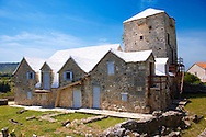 The Tower of Radojkovic, the regional museum in the ancient town of ?krip in Bra? island, Croatia .<br /> <br /> Visit our CROATIA HISTORIC SITES PHOTO COLLECTIONS for more photos to download or buy as wall art prints https://funkystock.photoshelter.com/gallery-collection/Pictures-Images-of-Croatia-Photos-of-Croatian-Historic-Landmark-Sites/C0000cY_V8uDo_ls