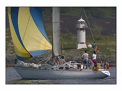 Racing at the Bell Lawrie Yachting Series in Tarbert Loch Fyne. Sunday racing was dominated by light winds...Ailish II GBR2422