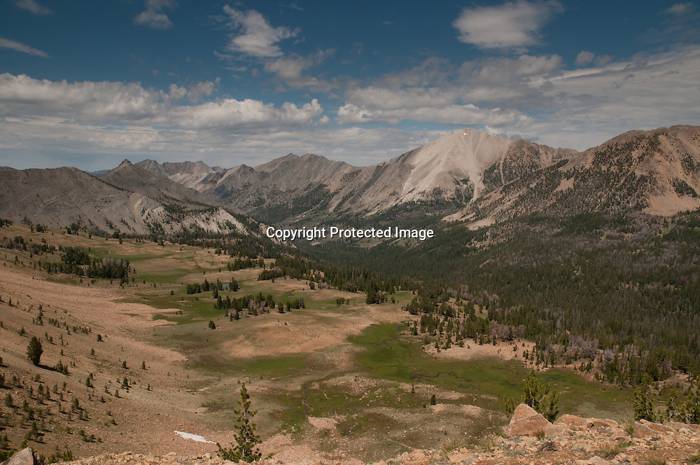 Ants Basin with White Cloud Mountains in the Sawtooth National Recrreation Area in central Idaho will become designated wilderness under the Central Idaho Economic Development and Recreation Act (CIEDRA).
