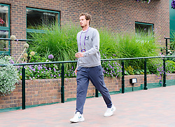 © Licensed to London News Pictures. 30/6/2017. Wimbledon, UK.  Andy Murray seen walking in some discomfort at Wimbledon due to a hip injury.<br /> He managed three short practice sessions on the grass but his movement is limited.  Photo credit: Peter van den Berg/LNP