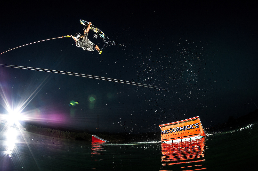 Alex Graydon shot for the cover of Alliance Wakeboard Magazine at McKormick's Wakepark in Tampa Bay, Florida.