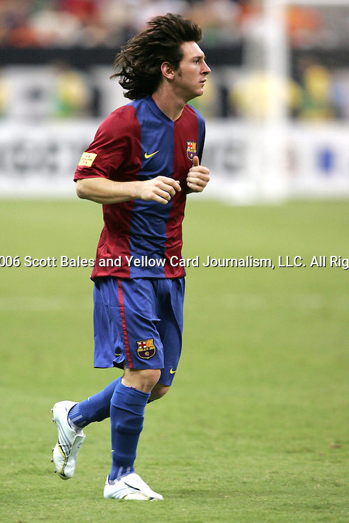 9 August 2006: . Barcelona FC from La Liga of Spain tied Club America from the Mexican Football League 4-4 at Reliant Stadium in Houston, Texas in an international club friendly.
