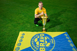 Alen Krcic during celebration of NK Bravo, winning team in 2nd Slovenian Football League in season 2018/19 after they qualified to Prva Liga, on May 26th, 2019, in Stadium ZAK, Ljubljana, Slovenia. Photo by Vid Ponikvar / Sportida