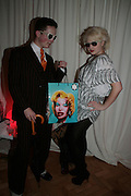 SIGMUND OAKESHOTT AND MIA MORE, Scarlet launch.- LG Scarlet TV. 1 Marylebone. London NW1. 30 April 2008. *** Local Caption *** -DO NOT ARCHIVE-© Copyright Photograph by Dafydd Jones. 248 Clapham Rd. London SW9 0PZ. Tel 0207 820 0771. www.dafjones.com.