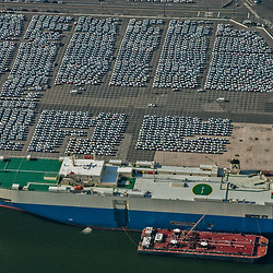 Aerial view of Container Ships