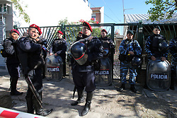 April 28, 2017 - Buenos Aires, Buenos Aires, Argentina - After being missing for 30 days, the mutilated corpse of a 22-year-old girl appears at the backyard of a house. Araceli Fulles was murdered in the neighborhood of Jose Leon Suarez, Greater Buenos Aires. The case shocked the public opinion of Argentina. (Credit Image: © Claudio Santisteban via ZUMA Wire)