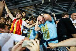 Matjaz Kek head coach of HNK Rijeka during celebration after winning Croatian national soccer league after football match between HNK Rijeka and HNK Cibala in Round #35 of 1st HNL League 2016/17, on May 21st, 2017 in Rujevica stadium, Rijeka, Croatia. Photo by Grega Valancic / Sportida
