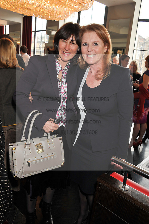 Left to right, LULU HUTLEY and SARAH, DUCHESS OF YORK at a ladies lunch in support of Maggie's Barts hosted by Judy Naake, Clara Weatherall and Caroline Collins at Le Cafe Anglais, 8 Porchester Gardens, London W2 on 19th March 2013.