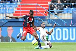 April 1, 2018 - Paris, France - Romain Genevois (Caen) vs Salomon Sambia  (Credit Image: © Panoramic via ZUMA Press)