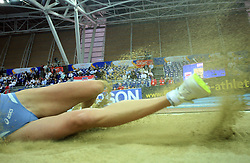 Women legs in the final of Women Triple  jump at the 3rd day of  European Athletics Indoor Championships Torino 2009 (6th - 8th March), at Oval Lingotto Stadium,  Torino, Italy, on March 8, 2009. (Photo by Vid Ponikvar / Sportida)