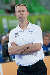 Vincent Collet, head coach of France during basketball match between National teams of France and Serbia in 2nd Round at Day 12 of Eurobasket 2013 on September 14, 2013 in SRC Stozice, Ljubljana, Slovenia. (Photo By Urban Urbanc / Sportida)