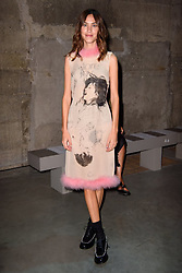 Alexa Chung on the front row during the Christopher Kane Spring/Summer 2019 London Fashion Week show at the Tate Modern, London. Picture date: Monday September 17th, 2018. Photo credit should read: Matt Crossick/ EMPICS Entertainment.