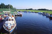 AMHK6B Boats Ludham bridge Norfolk Broads England