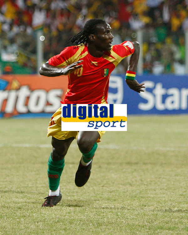 Photo: Steve Bond/Richard Lane Photography.<br /> Guinea v Morocco. Africa Cup of Nations. 24/01/2008. Ismael Bangoura turns to celebrate