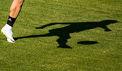 July 4, 2018 - Gelendzhik, Russia - 180704 The shadow of John Guidetti of the Swedish national football team at a practice session during the FIFA World Cup on July 4, 2018 in Gelendzhik..Photo: Petter Arvidson / BILDBYRN / kod PA / 92081 (Credit Image: © Petter Arvidson/Bildbyran via ZUMA Press)