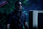 """Black Lightning -- """"The Book of Occupation: Chapter Five"""" -- Image BLK305B_0113r.jpg -- Pictured: Jordan Calloway as Khalil/Painkiller -- Photo: Jace Downs/The CW -- © 2019 The CW Network, LLC. All rights reserved."""