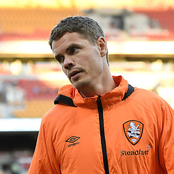 BRISBANE, AUSTRALIA - JANUARY 28: Thomas Kristensen of the Roar warms up during the round 17 Hyundai A-League match between the Brisbane Roar and Western Sydney Wanderers at Suncorp Stadium on January 28, 2017 in Brisbane, Australia. (Photo by Patrick Kearney/Brisbane Roar)