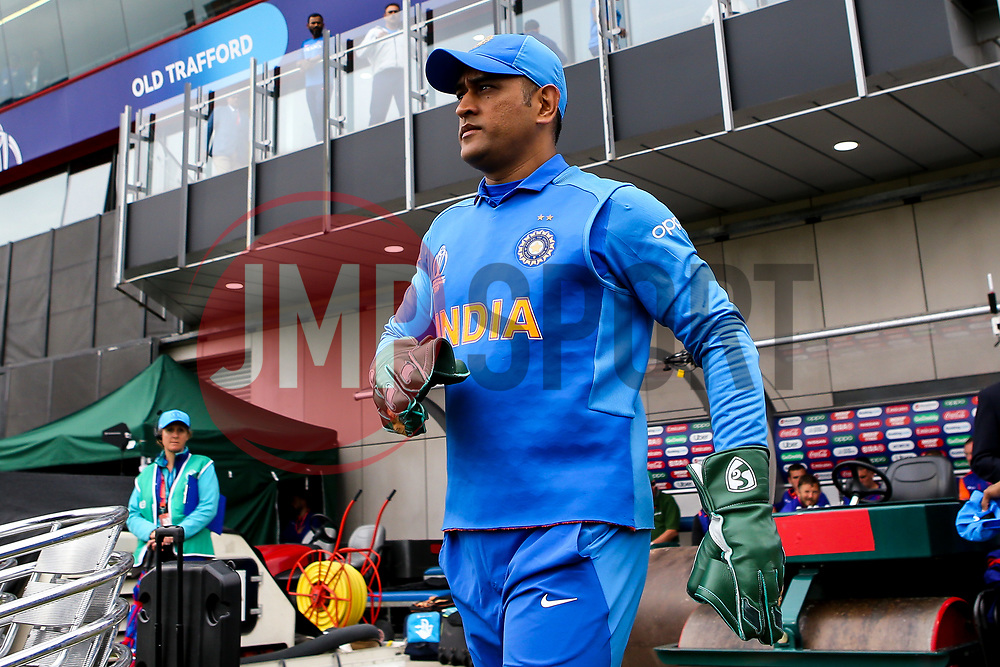 MS Dhoni of India - Mandatory by-line: Robbie Stephenson/JMP - 09/07/2019 - CRICKET - Old Trafford - Manchester, England - India v New Zealand - ICC Cricket World Cup 2019 - Semi Final