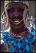 Maasai Woman Smile, Maasai Mara, Kenya, July, 2002